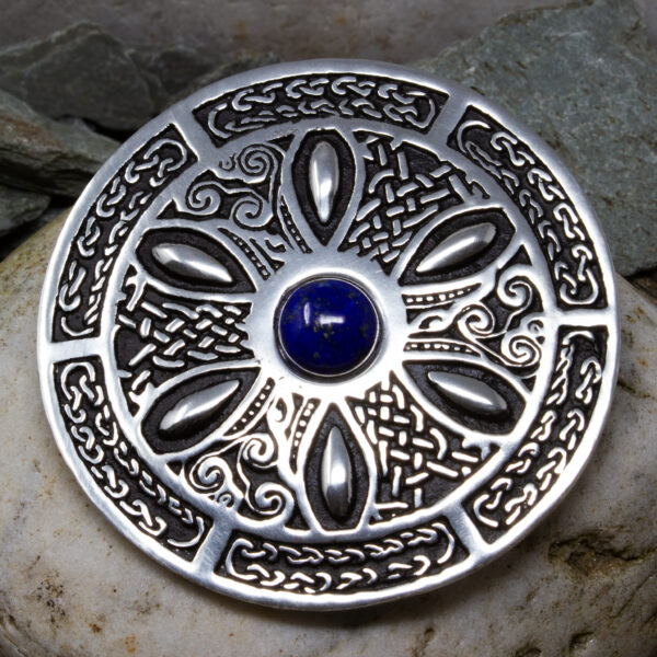 a Pewter Celtic Wheel brooch