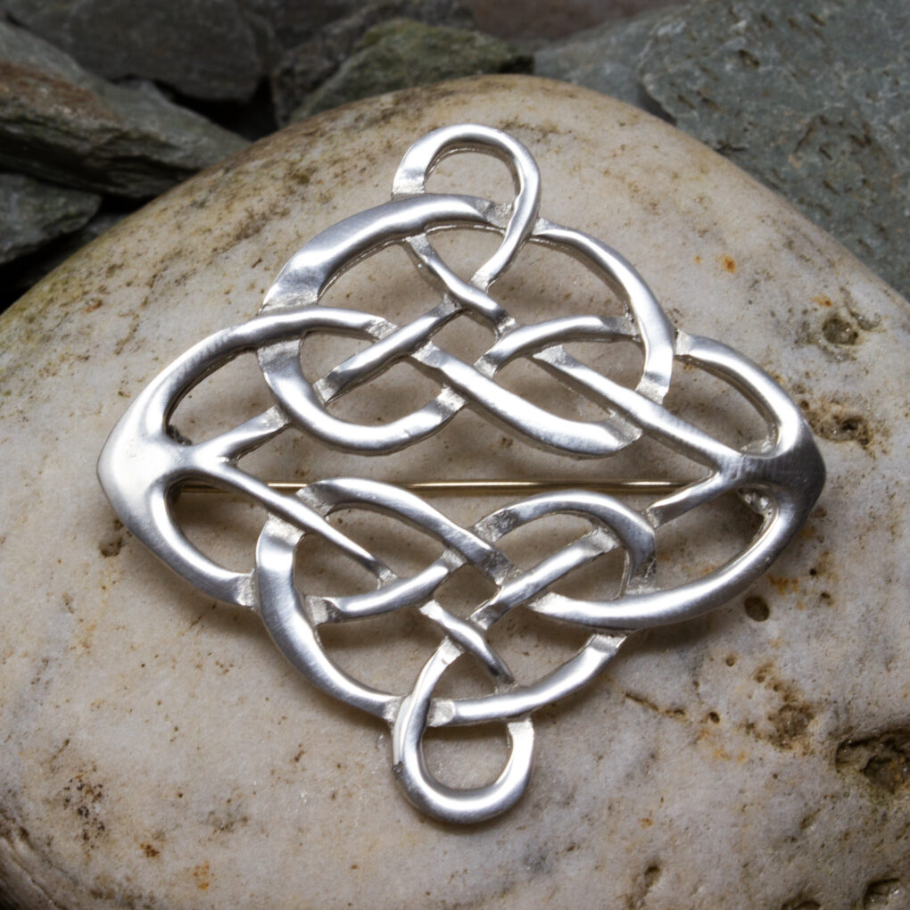 a Linked Knot Brooch from Eyres Jewellery