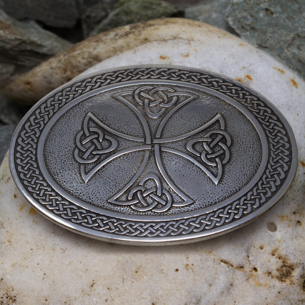 Border Cross Belt Buckle