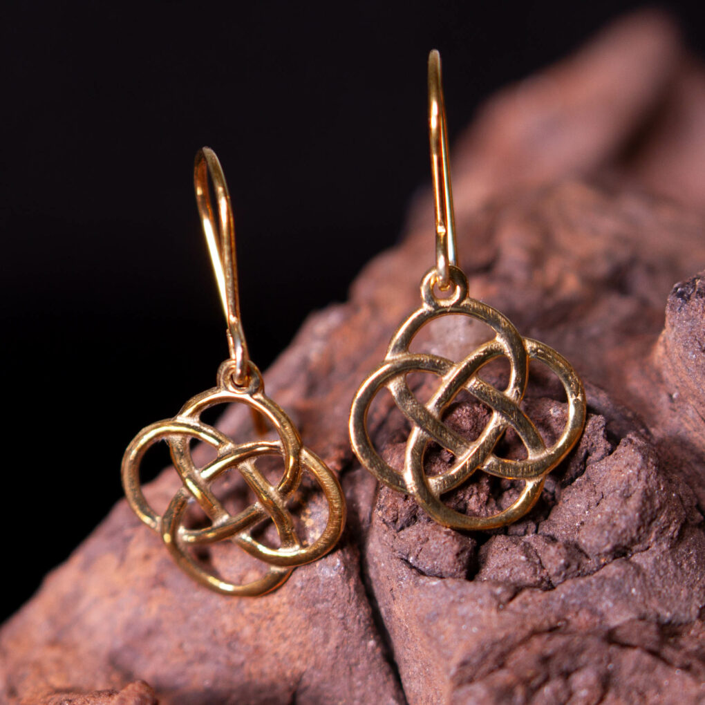 bronze four loop earrings