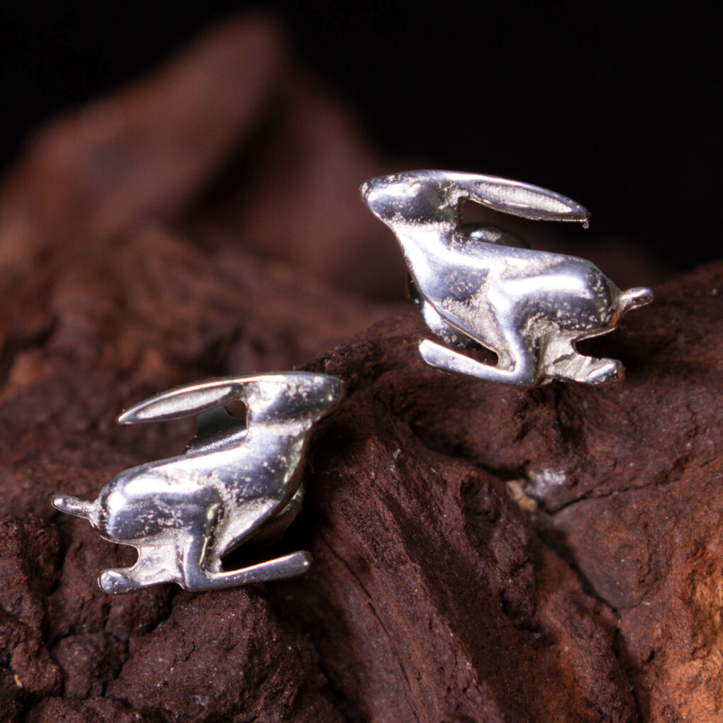 Running Hare Stud Earrings