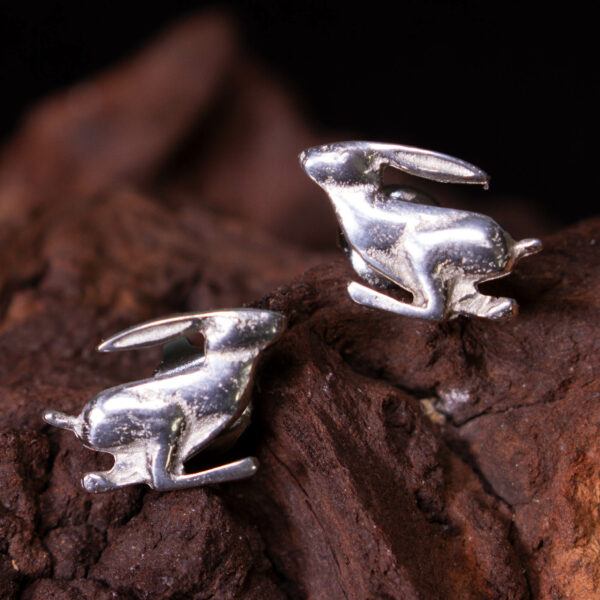 a pair of Hare earrings animal themed jewellery