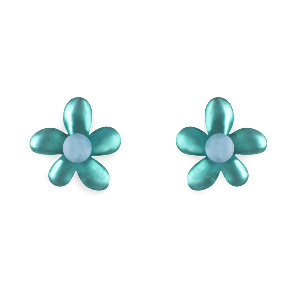 flower stud earrings fjord