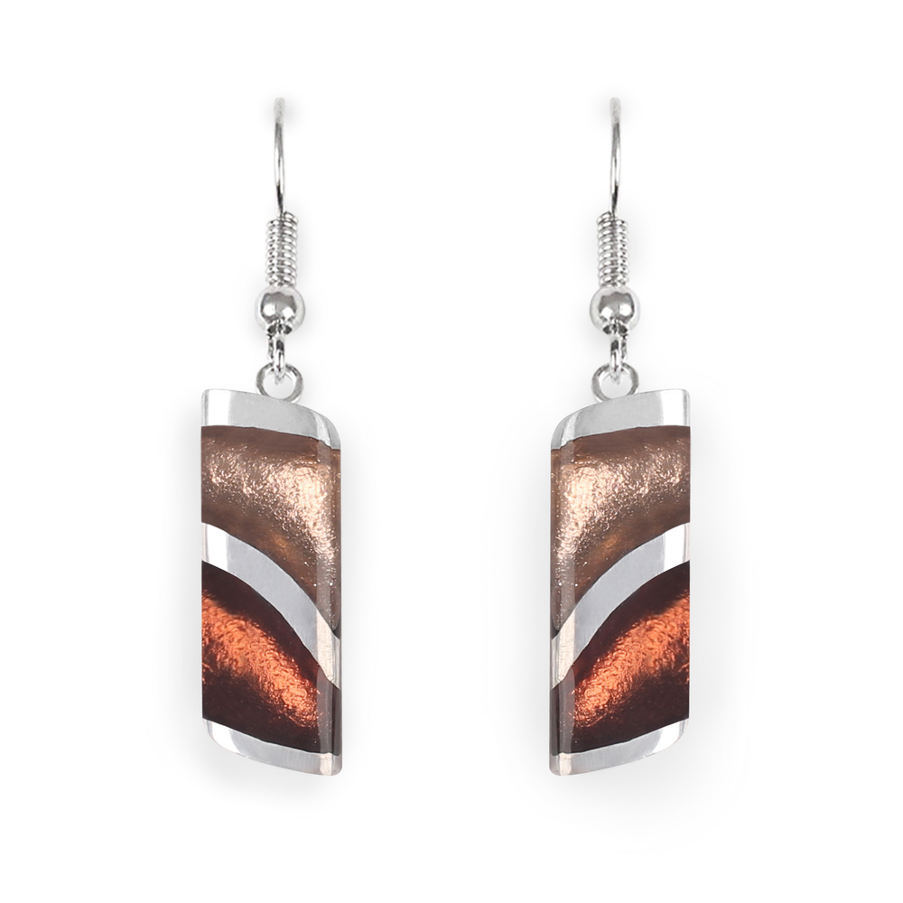 lava earrings nougat