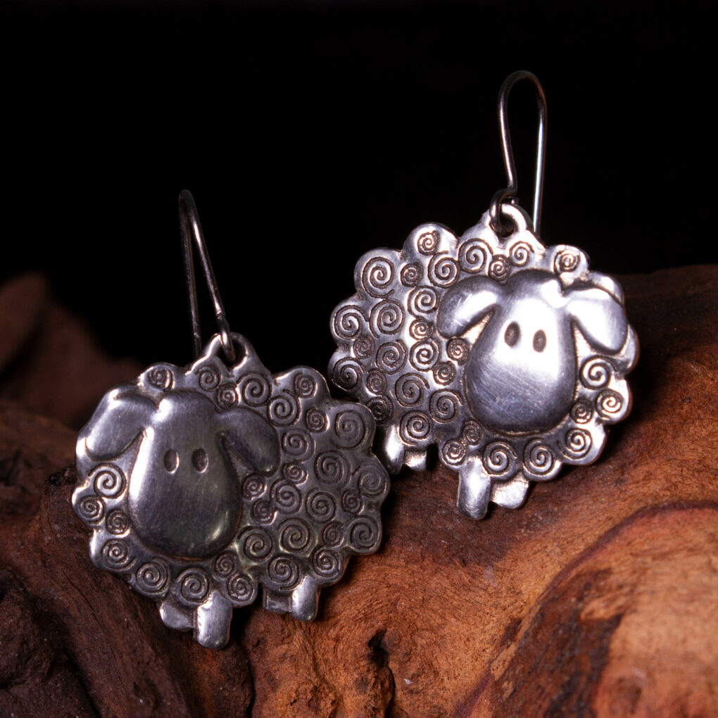 sheep themed earrings
