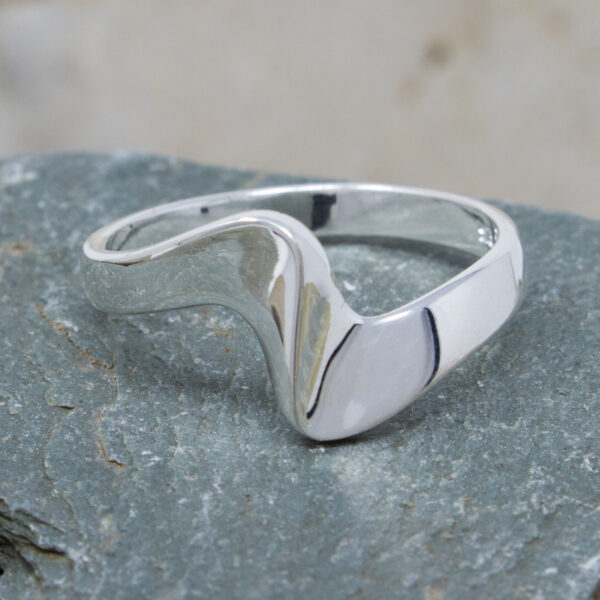 Silver Ring With A Twist