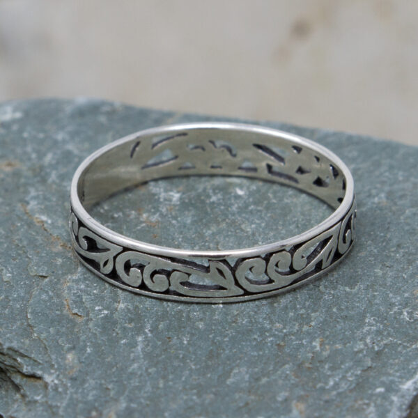 Silver Ring With Filigree Detail