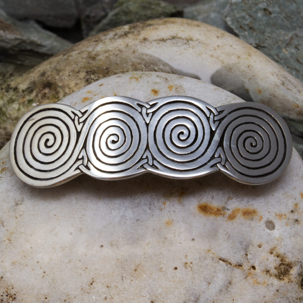 Four spiral hair slide