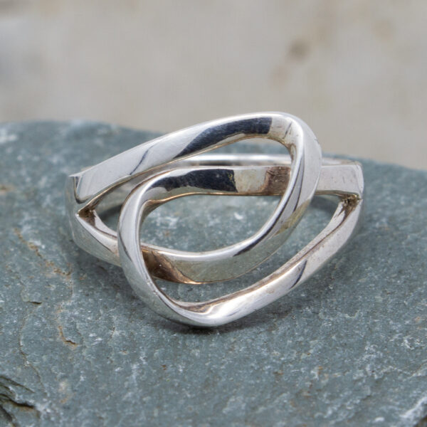 Silver Double Loop Ring