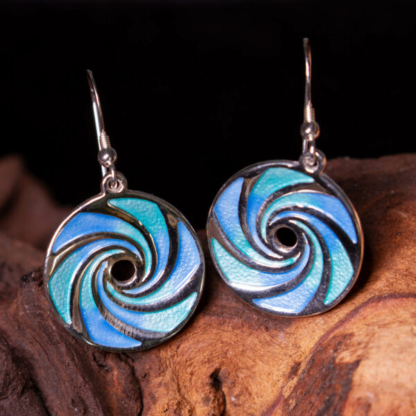maelstrom earrings silver