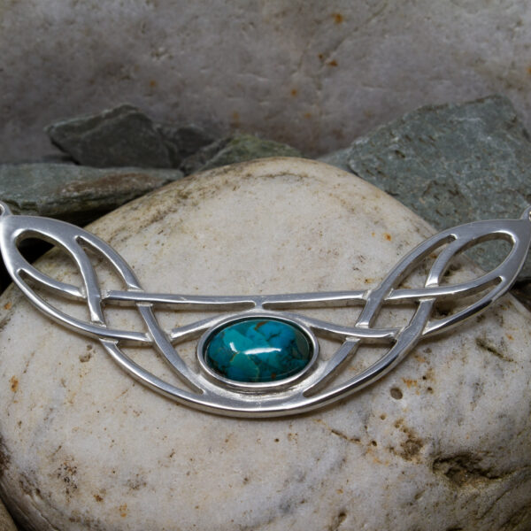 celtic bow necklace turquoise
