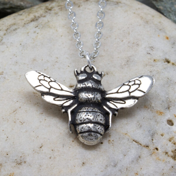 pewter bee pendant