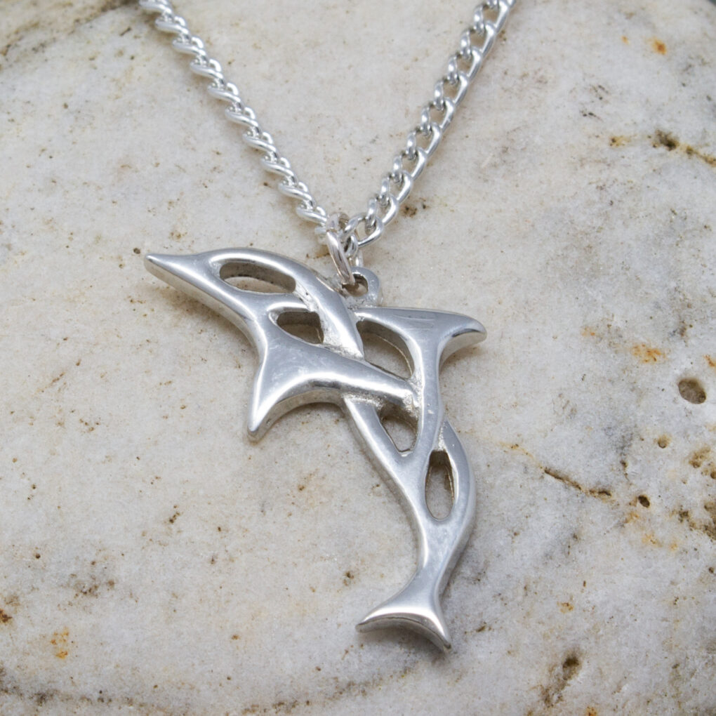 pewter dolphin pendant