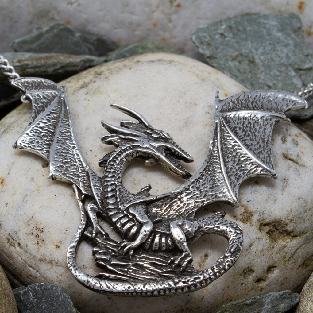 rock dragon necklace