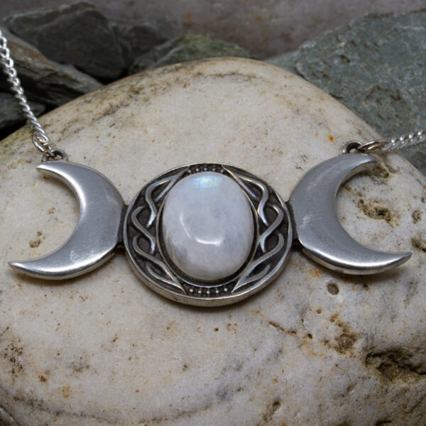 triple moon necklace