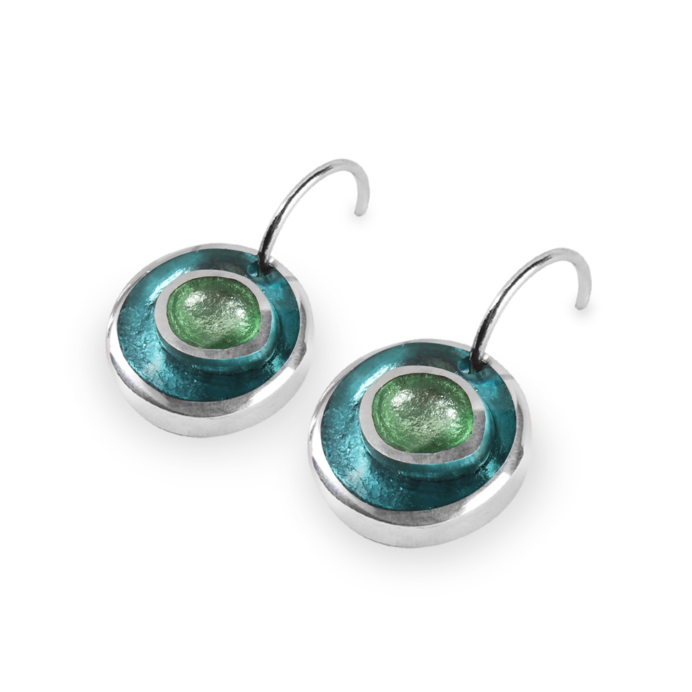 organic circles earrings orchard