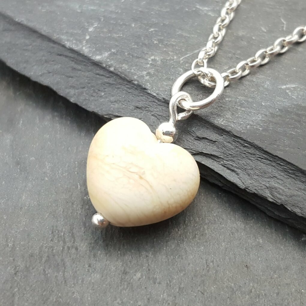 Cora tiny heart necklace - wittering sands