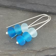 glass trio earrings turquoise