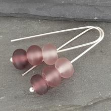 glass trio earrings grape