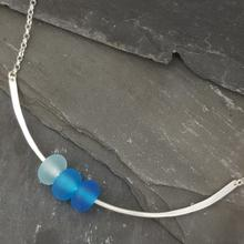 glass trio necklace Turquoise