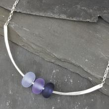 glass trio necklace violet