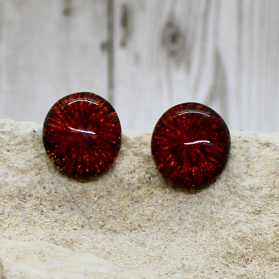 orange fireworks clip-on earrings