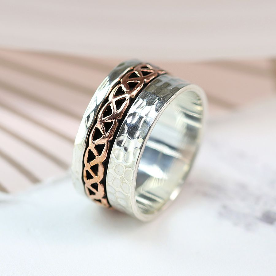 Sterling Silver Celtic Band Spinning Ring