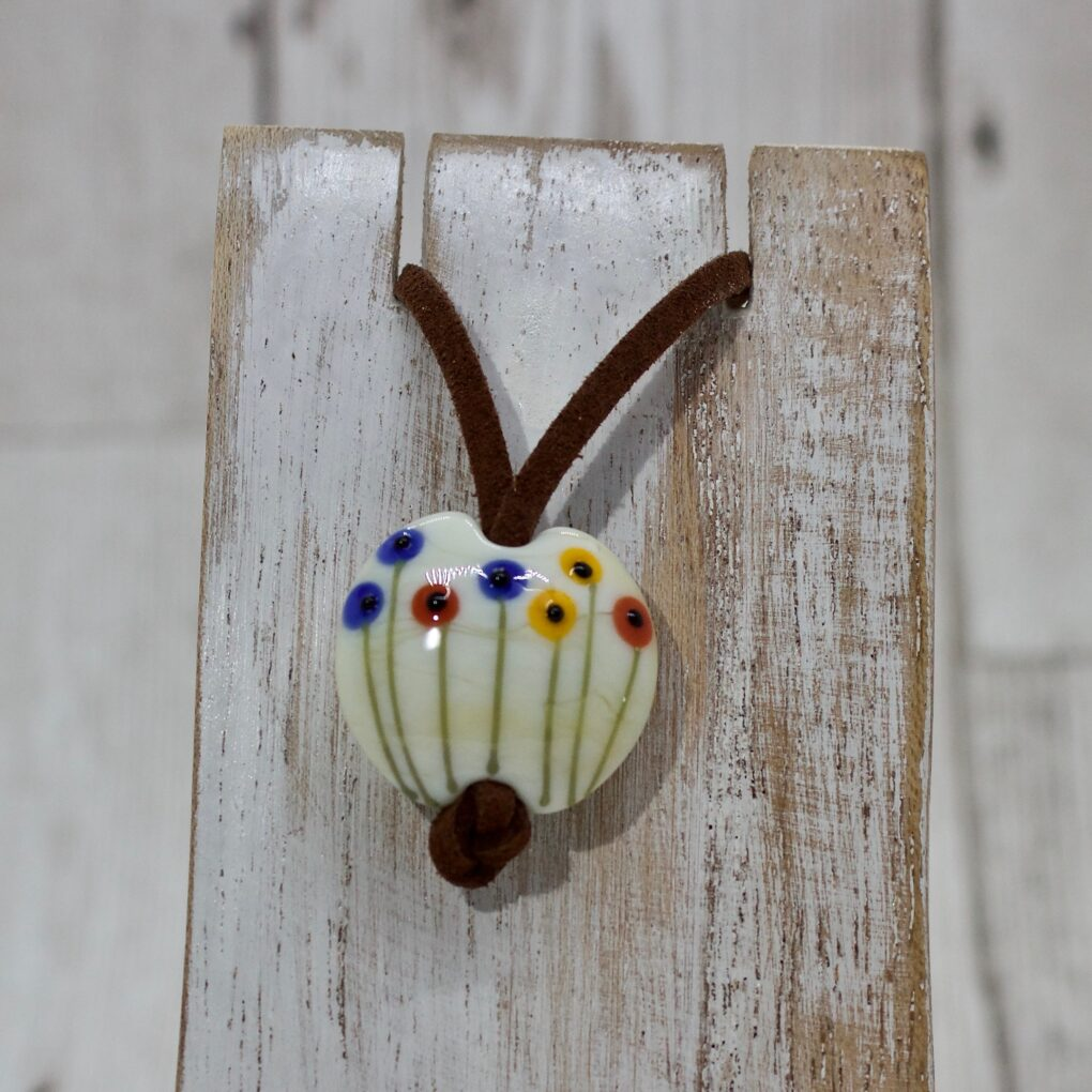 Spring Wallflowers Glass Pendant
