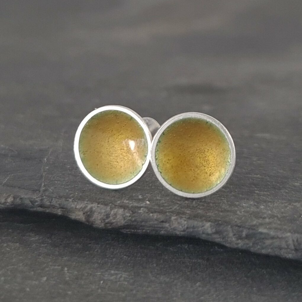 Sterling silver Studs - Golden Honey