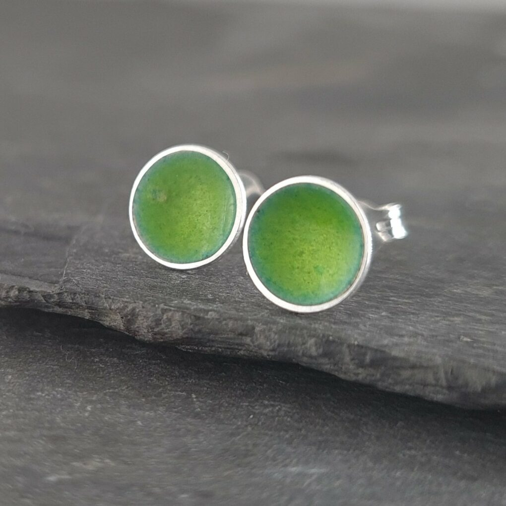 Sterling Silver Studs Juicy Lime