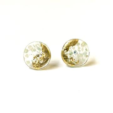 Frost Mottled Glass Stud Earring