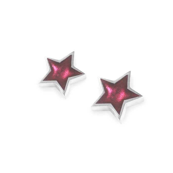 Star Stud Earrings - Blackberry