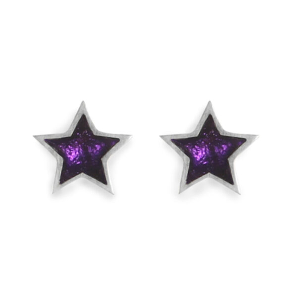Star stud earrings - Peacock