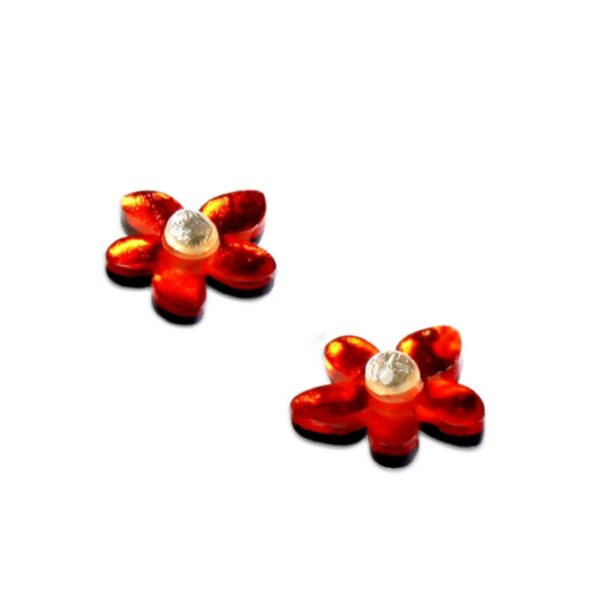 Flower Stud Eariings Orange