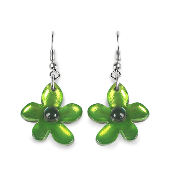 Flower Earrings - Apple