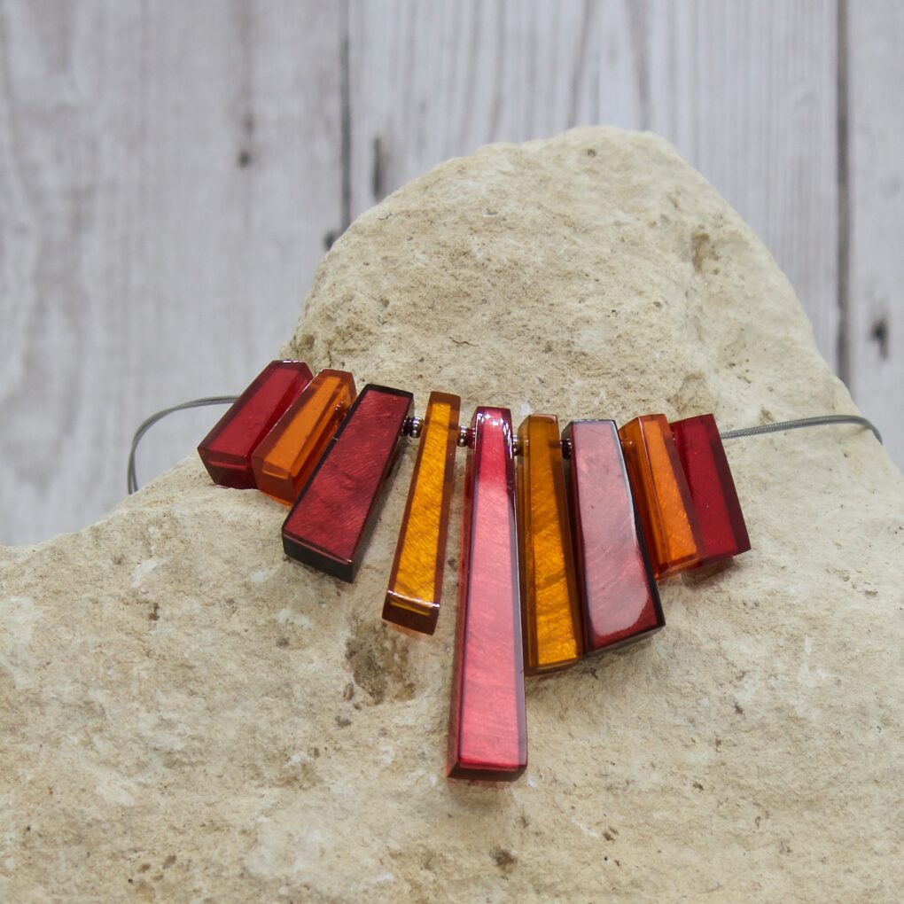 Deco Extravaganza Necklace - Sangria