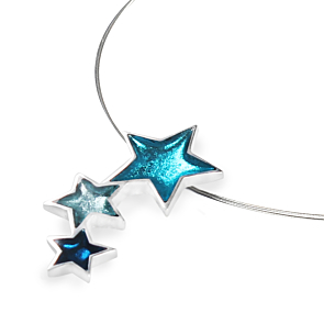 Resin Star Pendant - Teal