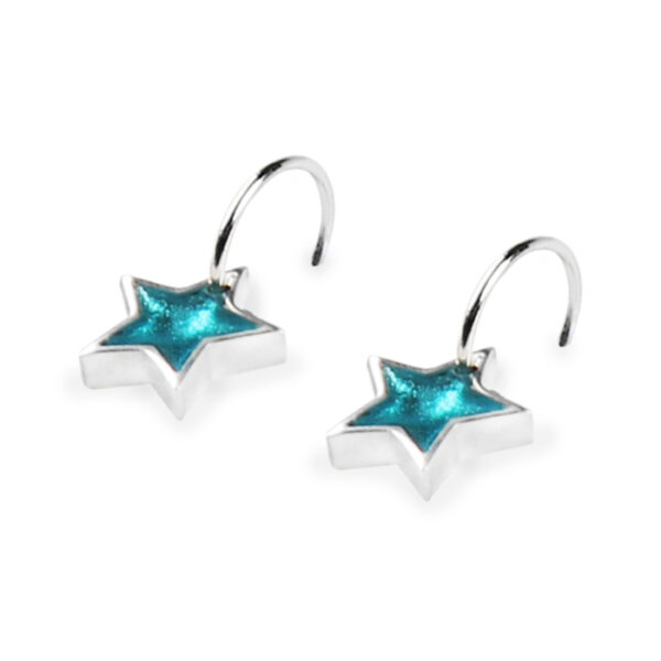 Star Earrings - Teal