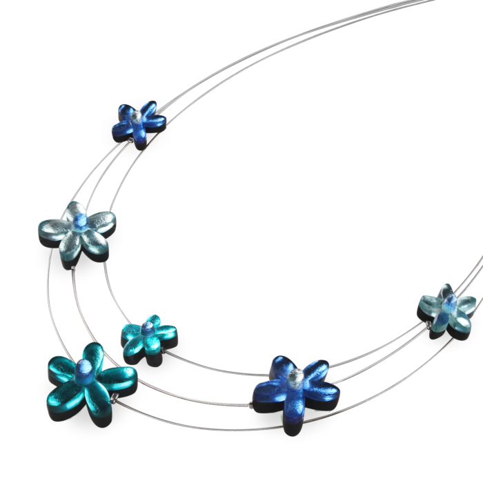Flower Extravaganza Necklace - Teal
