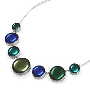Aluminium Cabochon Necklace - Everglade