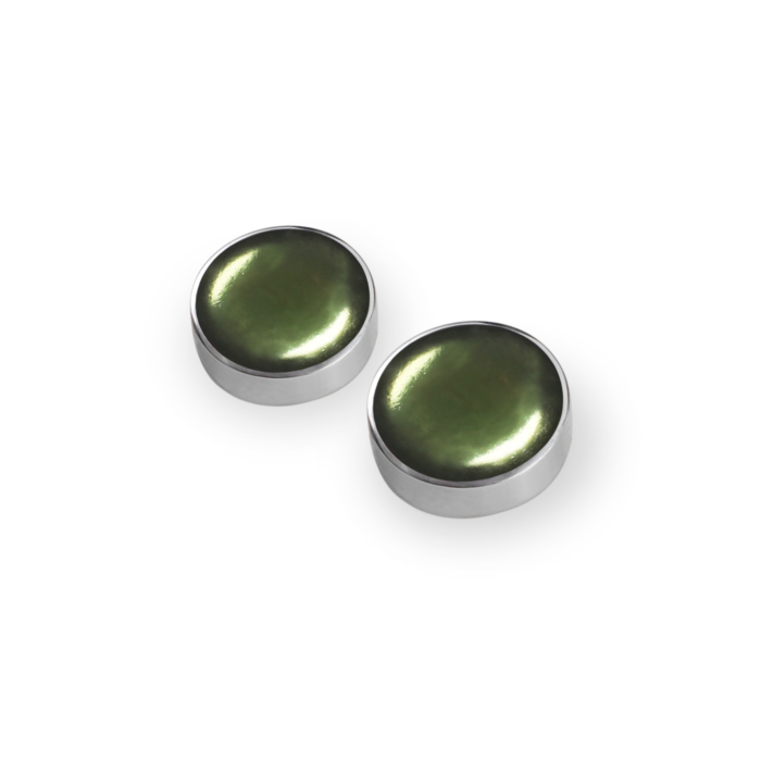 Cabouchon Stud Earrings - Everglade
