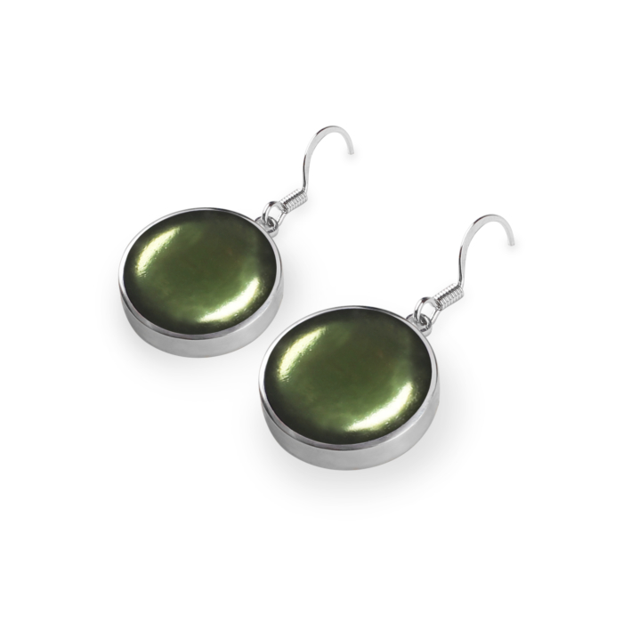 Cabouchon Drop Earrings  - Everglade