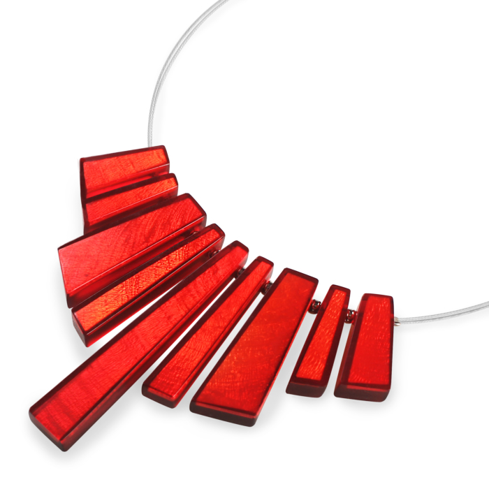 Deco Extravaganza Necklace - Red