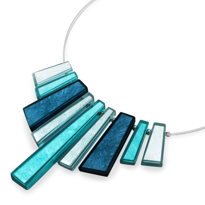 Deco Extravaganza Necklace - Teal