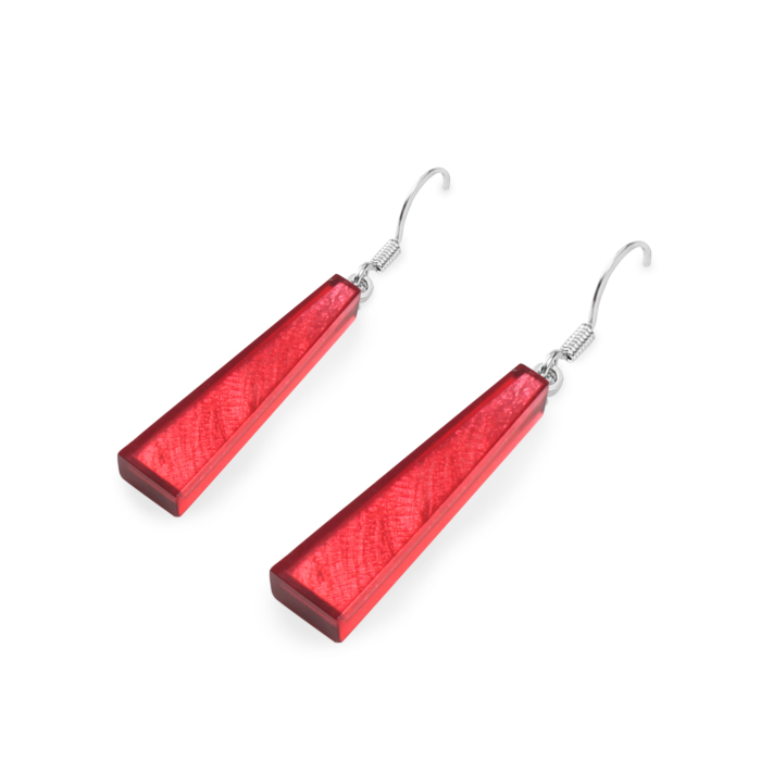 Deco Extravaganza Earrings - Sangria