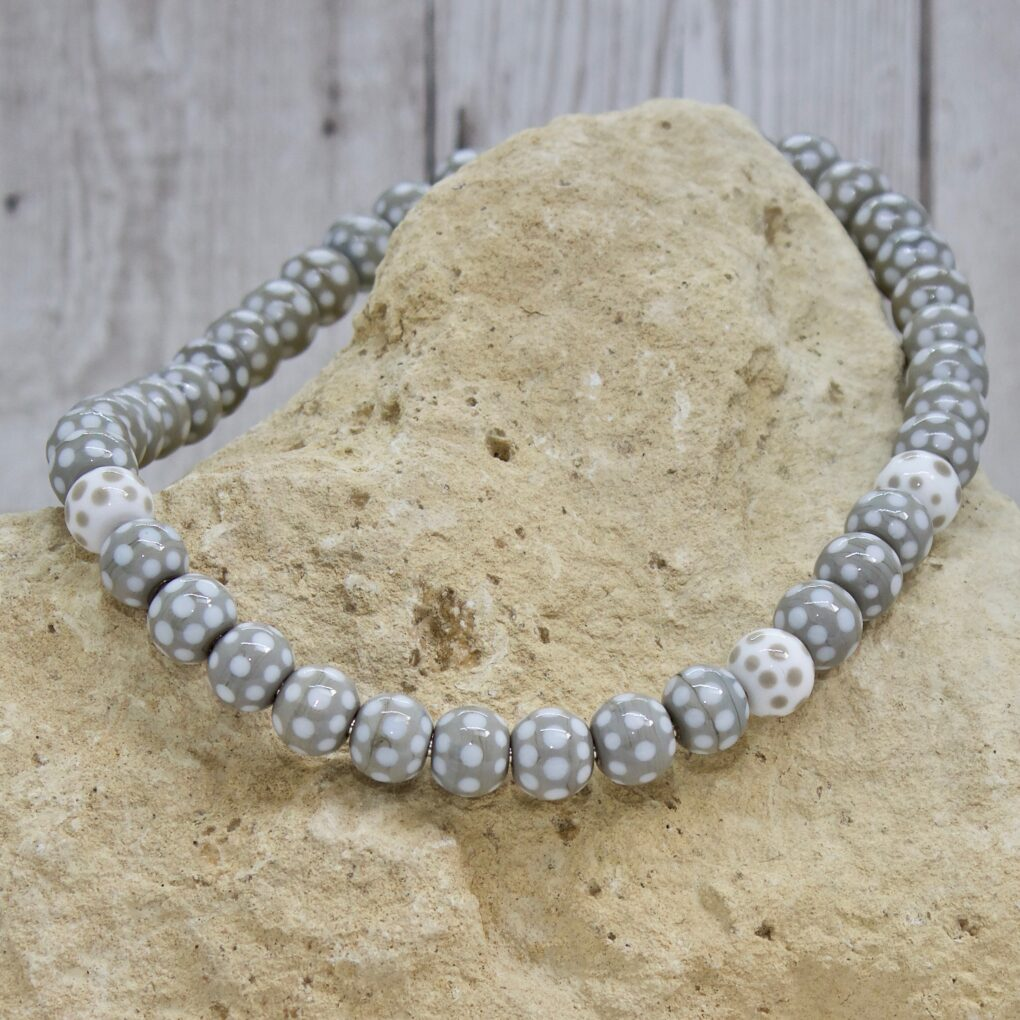 Polka Dot Necklace - Grey
