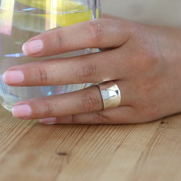 Sterling Silver Concave Band Ring