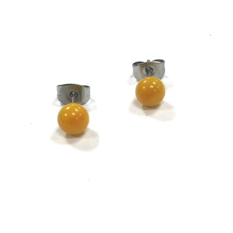 Ochre Glass Stud Earrings