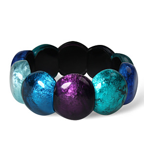 Resin Cabouchon Bangle - Peacock